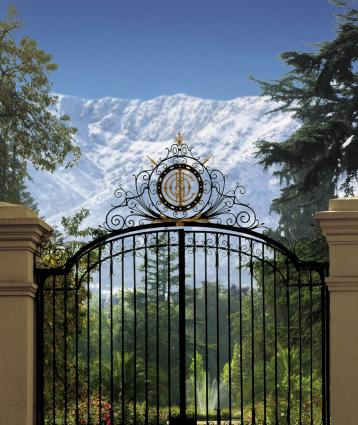 The gate to Cousiño-Macul winery