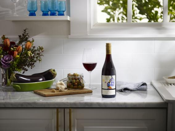 KRIS Pinot Noir on kitchen counter top