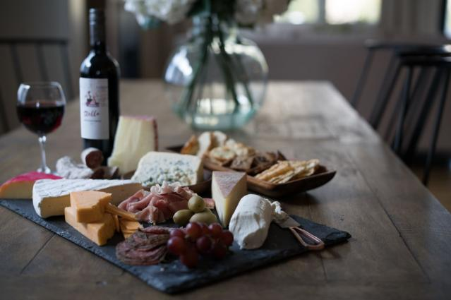 Stella Montepulciano Bottle and Cheese Board