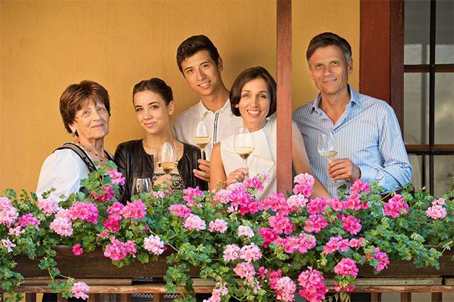 Tiefenbrunner Family, Grandma Hilde, Anna, Johannes, Sabine and Christof