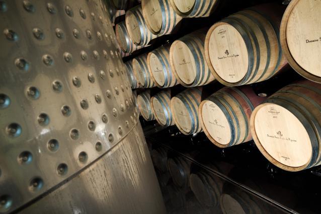 stacks of barrels