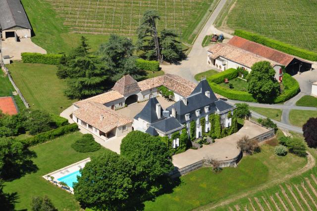 Château de Parenchère Aerial View