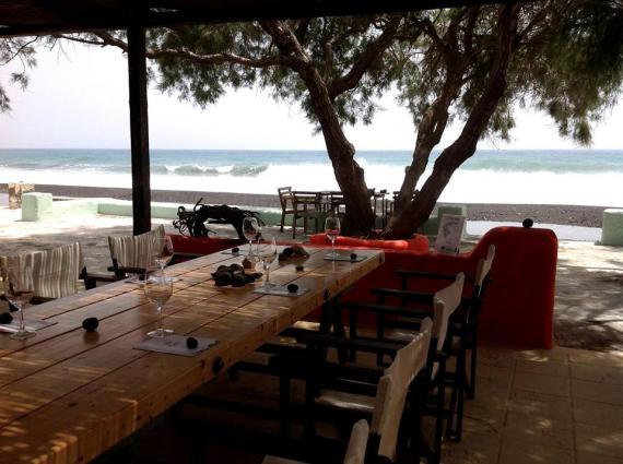 GAI'A Santorini beach tasting