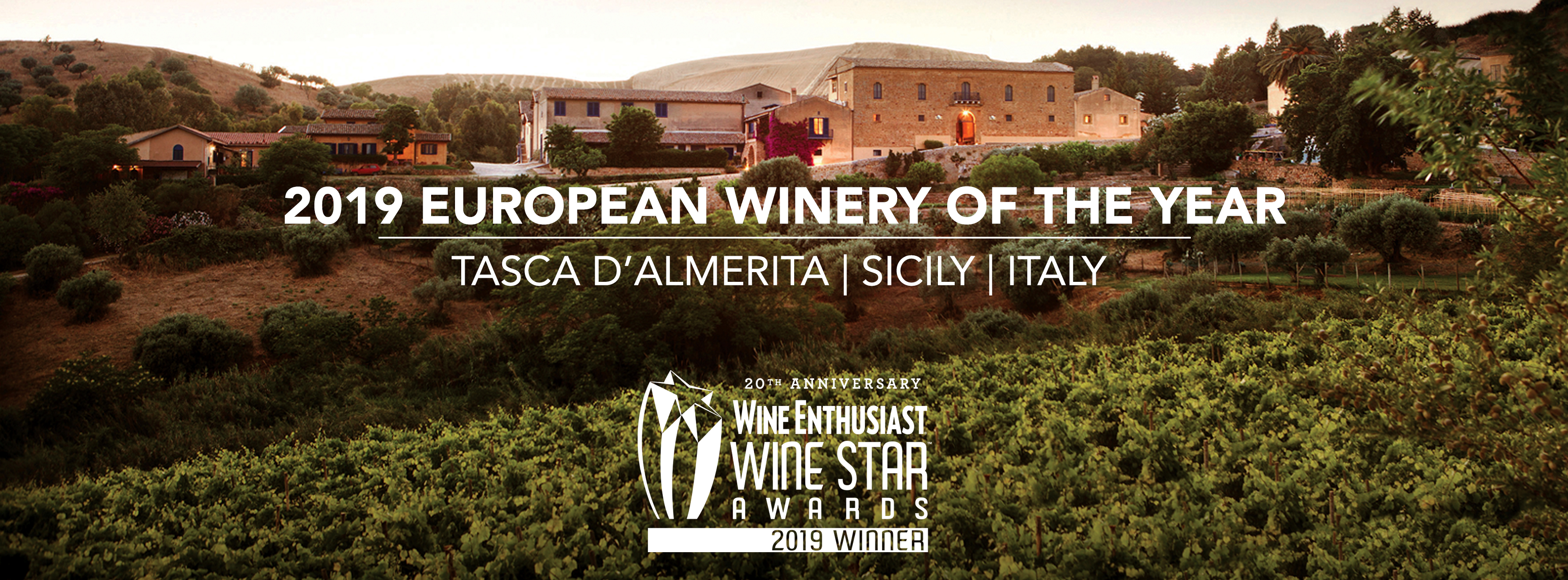 Wine Enthusiast names Tasca d'Almerita the 2019 European winery of the year.