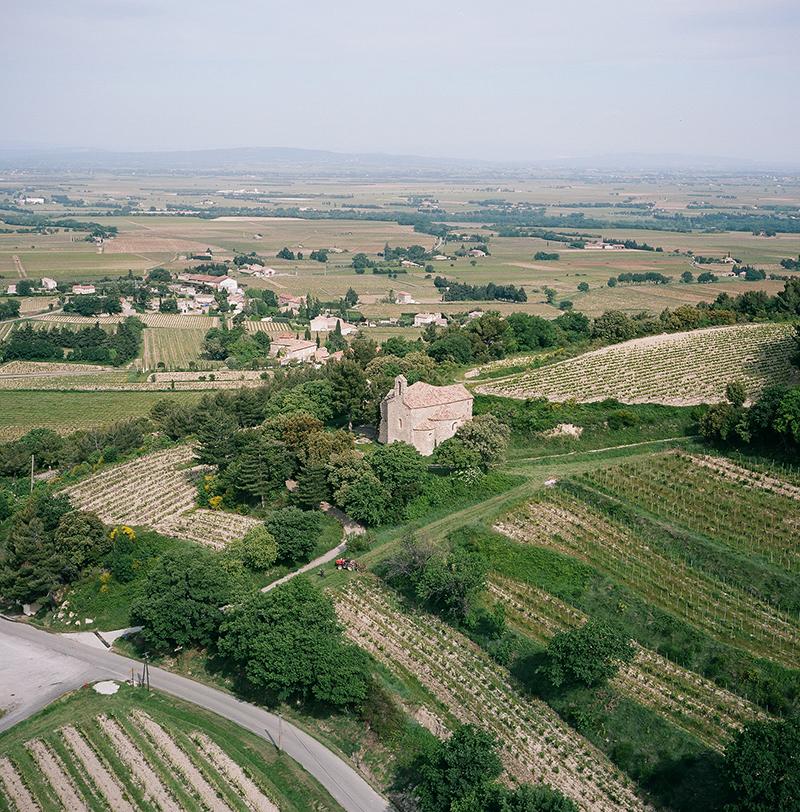 Aerial View of Chapel de Saint Cosme