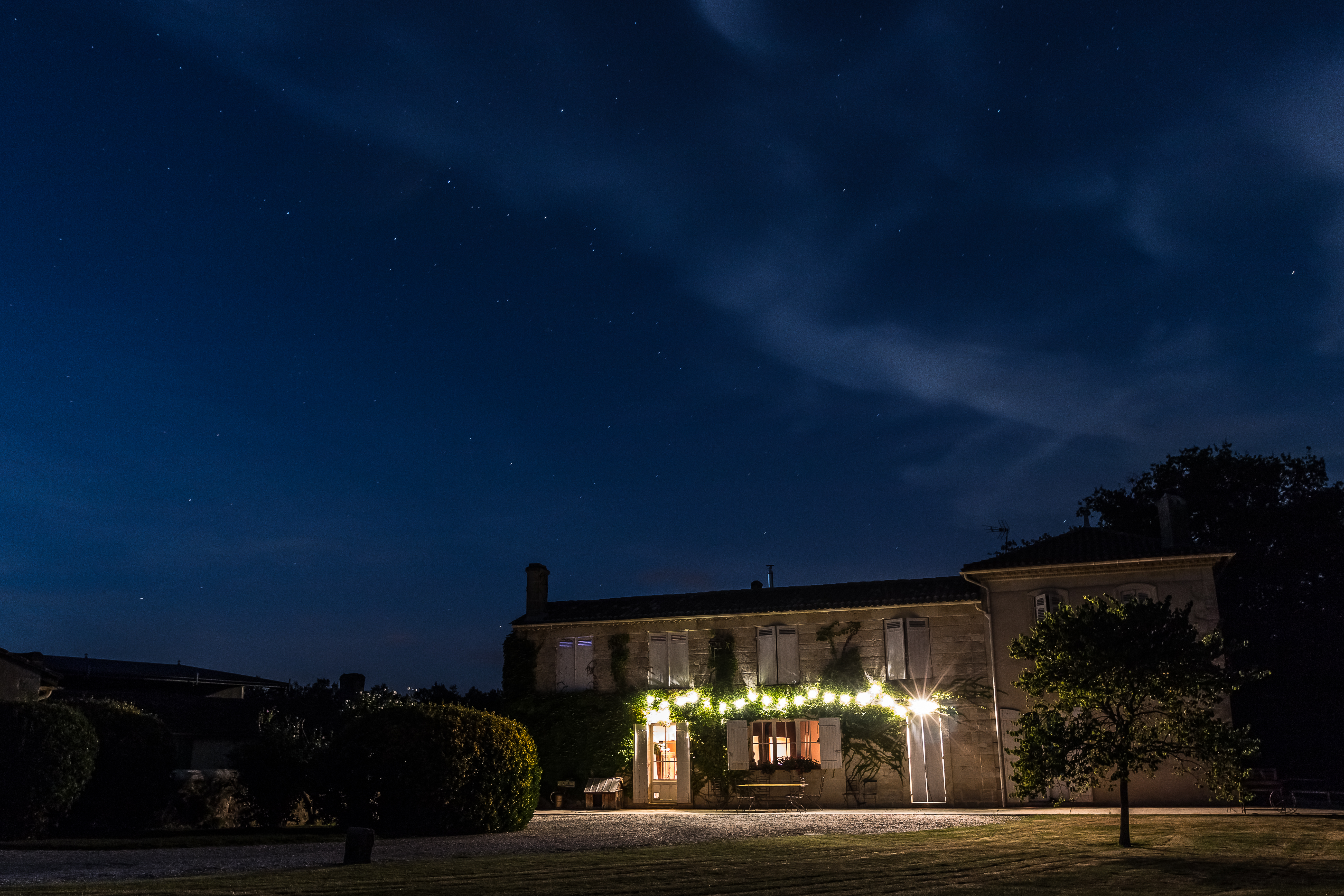 Chateau de Fontenille at Night